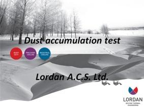Dust accumulation test